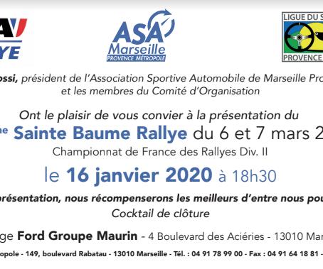 Présentation du 35e #SainteBaumeRallye