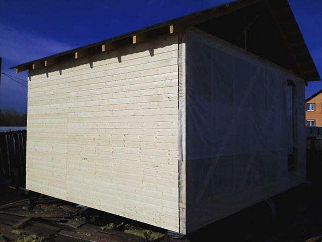 Строительство каркасной бани.Липовый остров._#sauna72#www.sauna72