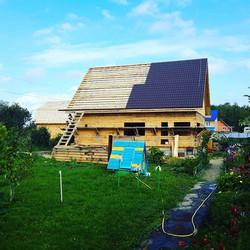 Дом из бруса с мансардой 12х12 м.Решетниково._#sauna72#www.sauna72