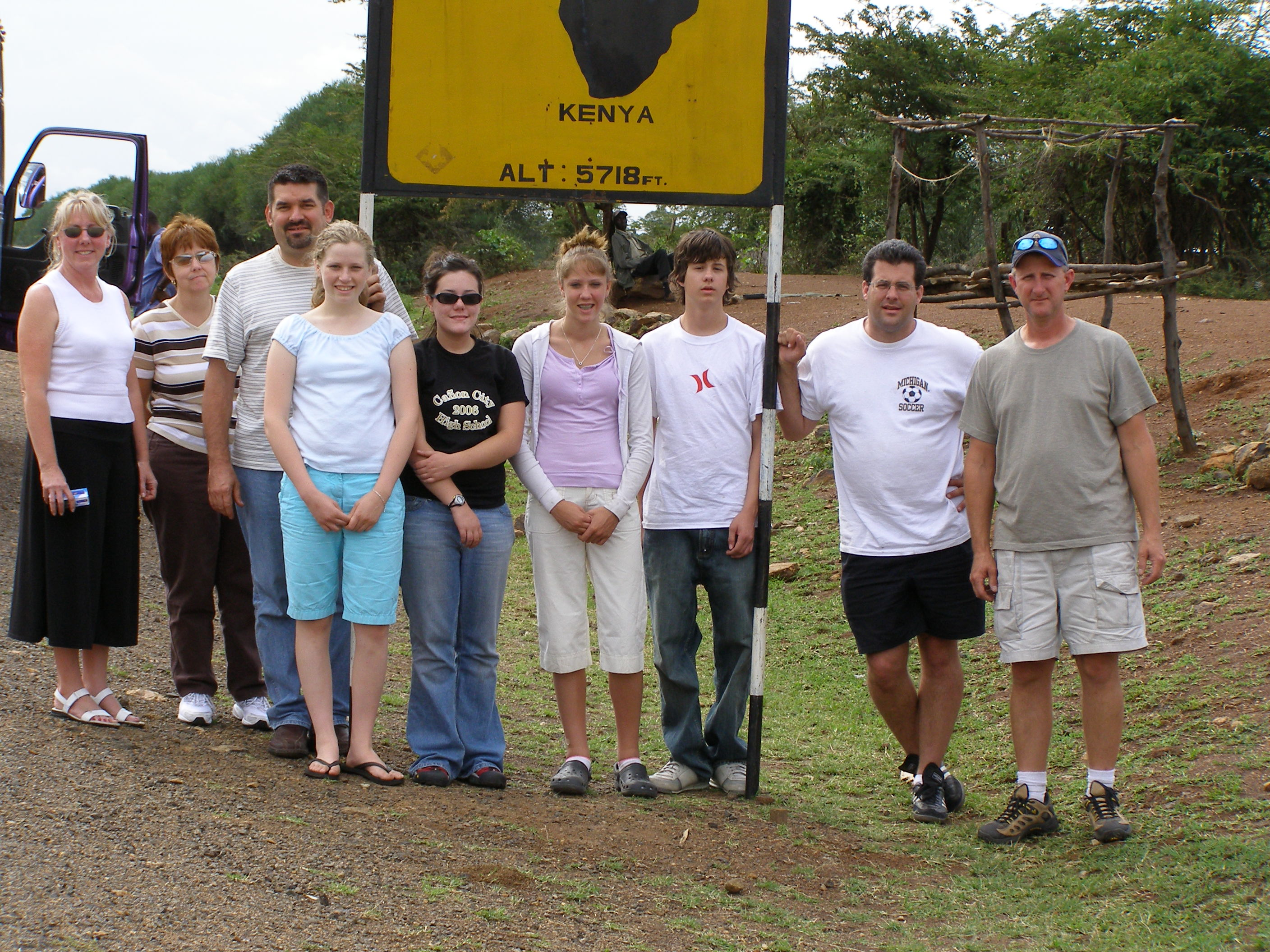At the Equator in Kenya