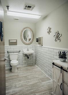 ADA bathrooms at salon rental space