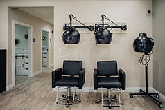 Drying station at salon rental space