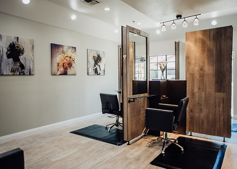 Semi-private nook stations for stylists in Palmdale CA