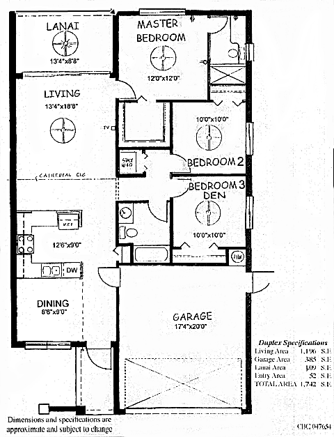 Cape Elite Duplex Floor plan