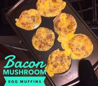 Recipe: Bacon Mushroom Egg Muffins