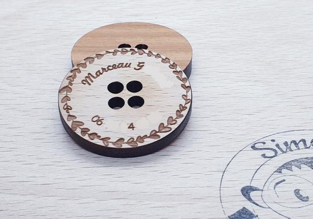 Un bouton personalisé et son kit couture