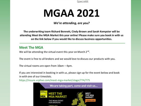 MGAA 2021 Online Event