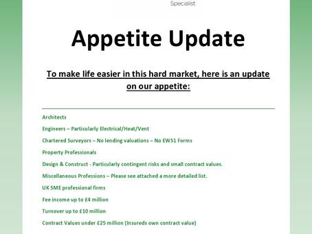 Appetite Update