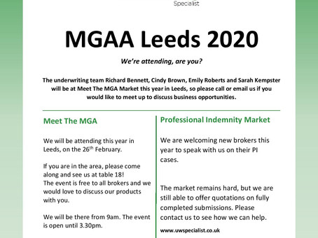 Meet the MGA 2020