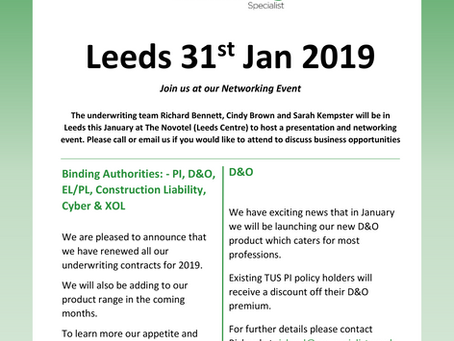 Leeds 31st Jan 2019!