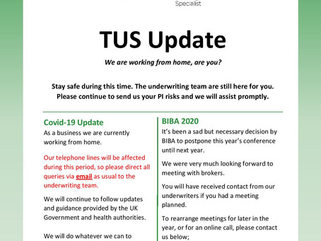TUS April Update