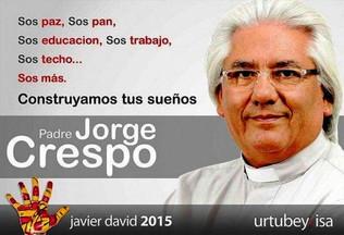 Cargnello no pudo convencer al cura kirchnerista Jorge Crespo