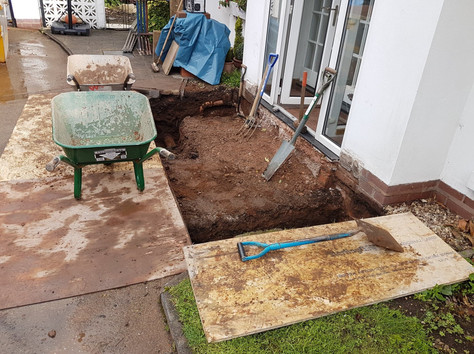 Digging Footings for Concrete