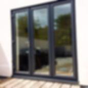 Bi Folding Anthricate Grey Doors Weymouth