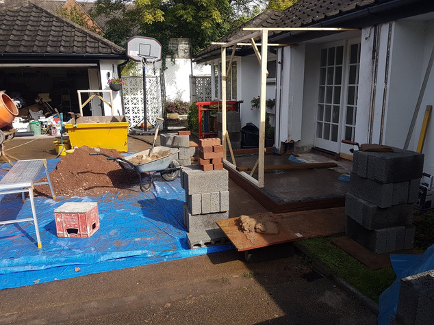 Footing & Concrete poured