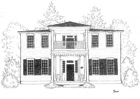 Zachary-Tolbert House illustrated by Maggie Dearth.