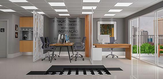 Piso elevado interiores Remaster; ilustração daniel beneventi