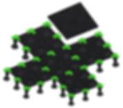 Intertravamento placas piso elevado Remaster; ilustração daniel beneventi
