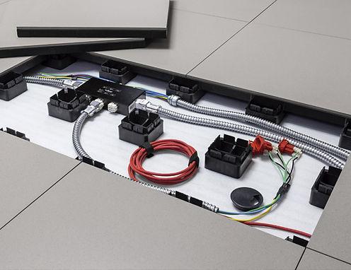 Rede elétrica modular Remaster; pis elevado;