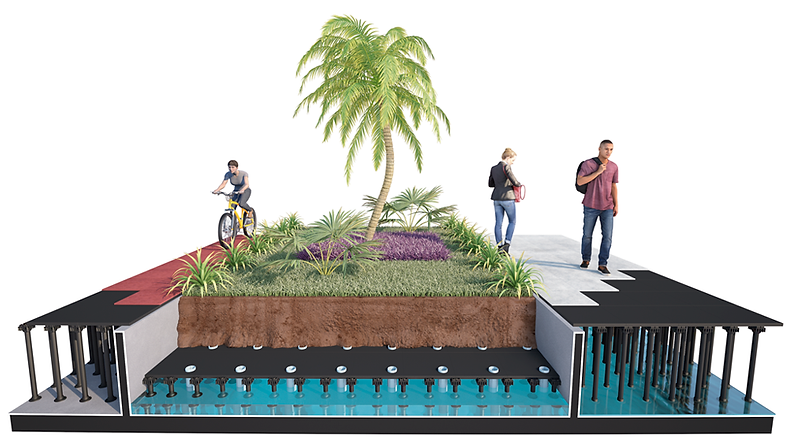 TecGarden, jardim autoirrigável, ilustração daniel beneventi