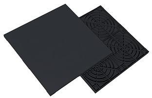 Placa piso elevado Remaster 60x60; ilustração daniel beneventi