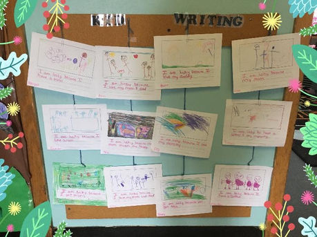 """Kid Writing"""