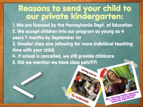 About our *private* Kindergarten