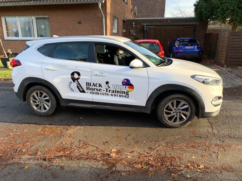 Fahrzeugbeschriftung mit bestehendem Logo