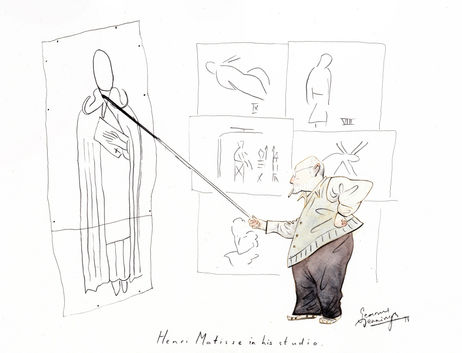 Matisse Seamus Jennings Cartoon Illustration