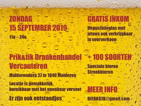 Bier proeven t.v.v. Kom Op Tegen Kanker