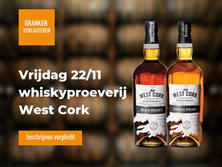 Whiskeyproeverij WEST CORK