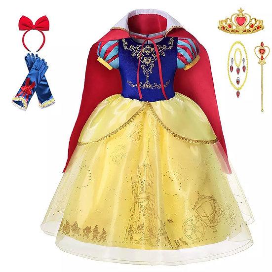 Luxe sneeuwwitje kostuum met atributen