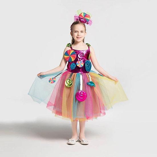 Regenboog snoep jurk