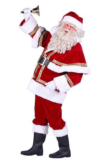 kerstman fluweel luxe huren