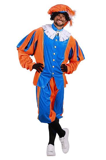 pietenkostuum populair , oranje / blauw