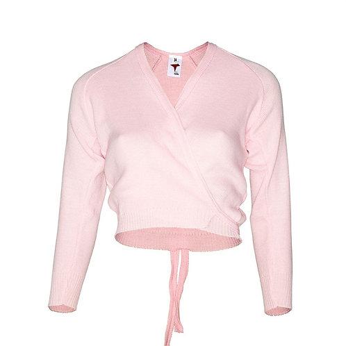 Pink wrap around ballet cardigan