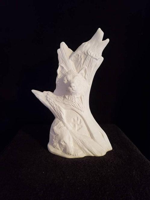 Driftwood Wolf Sculpture