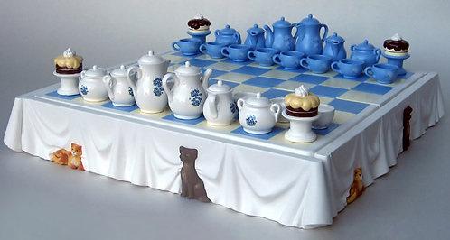Tea Time Chess Set
