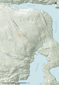 Topography of Surry, ME