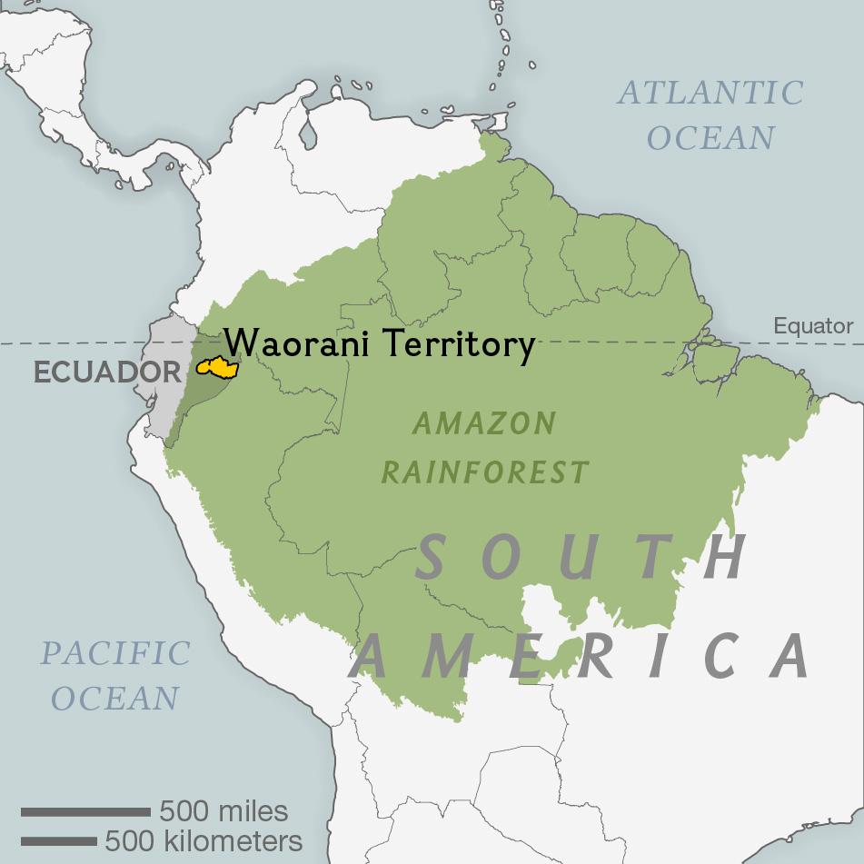 Waorani territory, for Explorer magazine
