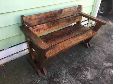 small 2 seater garden bench