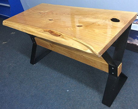 Custom slab desk