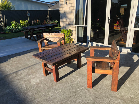 small patio set