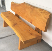 2m Slab seat with back