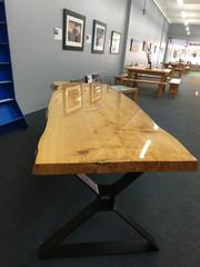 2.4m large slab dining table