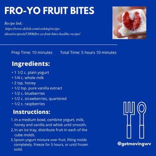 Fro-Yo Fruit Bites