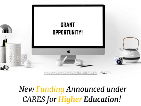 New Funding Announced under CARES for Higher Education