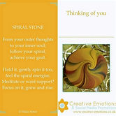 Wellness Spiral Stone Poetry Keepsake Ca