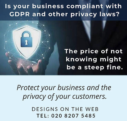 Website GDPR Compliance Consulting by Designs on the Web