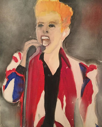 Beverley Mason Artist Original Painting of David Bowie 3